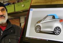 Шуменецът Мартин Найденов създаде електромобил в гаража си (снимки)