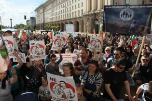 Масови протести в цялата страна по повод промените в Закона за закрила на детето
