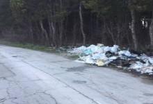 Пътят Варна – с. Калиманци е осеян с купища боклуци