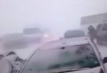 """Зимата отново ни изненада! Няколко големи верижни катастрофи по непочистената автомагистрала """"Тракия"""" (ВИДЕО)"""
