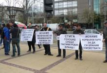 Протест на таксиметровите шофьори във Варна