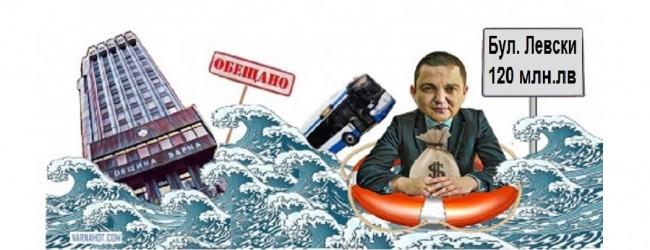 """При дъжда днес булевард """"Левски"""" автоматично пусна """"революционна"""" скоростна лента за воден транспорт"""