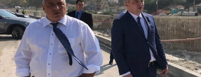"""Кризисен ПиАр: Борисов изненадващо """"инспектира"""" инфраструктурните проекти изграждани във Варна"""