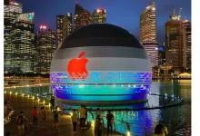 Apple открива уникален плаващ сферичен магазин в Сингапур