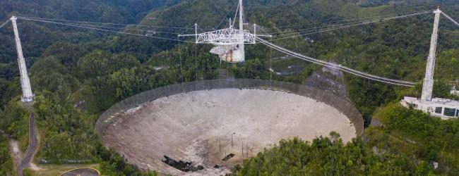 """Най-големият телескоп """"Аресибо"""" в Пуерто Рико ще бъде разрушен, след като конструкцията стана опасна"""