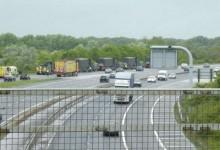 Военен камион превозващ ядрени бойни глави е катастрофирал на магистралата Бирминган – Лондон