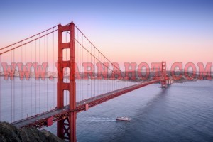 Golden Gate, San Francisco California at sunset