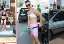 Промоция по руски: Идваш с женско бельо – зареждаш гориво без пари!