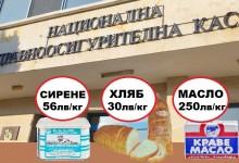 Грабежът продължава: НЗОК купува за болници сирене за 56 лв/кг, хляб за 30 лв/кг и масло за 250 лв/кг ?!?