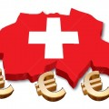 3D Swiss map with flag illustration on white background