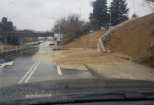 Варна: Новоизградения изход към АМ Хемус даде фира при първия дъжд 3 дни след пускането му!