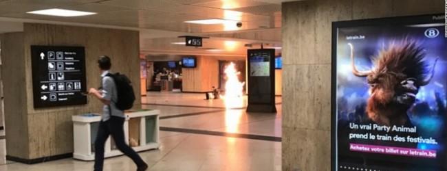 НОВ АТЕНТАТ В ЕВРОПА!!! Експлозия на централната гара в Брюксел! Атентатор с колан-бомба е обезвреден!