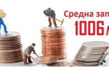 Средната заплата била стигнала 1006 лева!?!