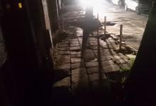 Уличките около центъра са потънали в мрак!