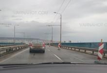 Задръствания на Аспарухов мост заради дефектиралата фуга! Ремонтът на моста все така остава мираж!