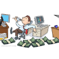 0511-1008-1618-5645_Bored_Office_Clerk_Playing_with_Paper_Airplanes_clipart_image.jpg