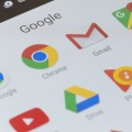 Melbourne, Australia - May 23, 2016: Close-up view of Google apps on an Android smartphone, including Chrome, Gmail, Maps.