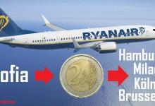 Уникална промоция на авиокомпанията Ryanair ни дава възможност да летим от София до Европа само за €2